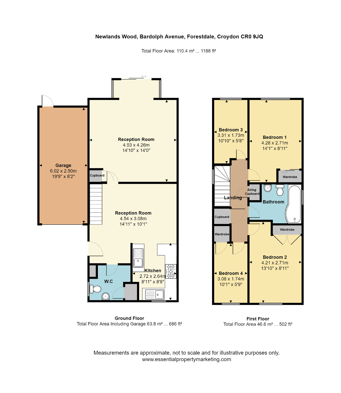 Floorplan of Newlands Woods, Bardolph Avenue, Croydon, CR0 9JQ