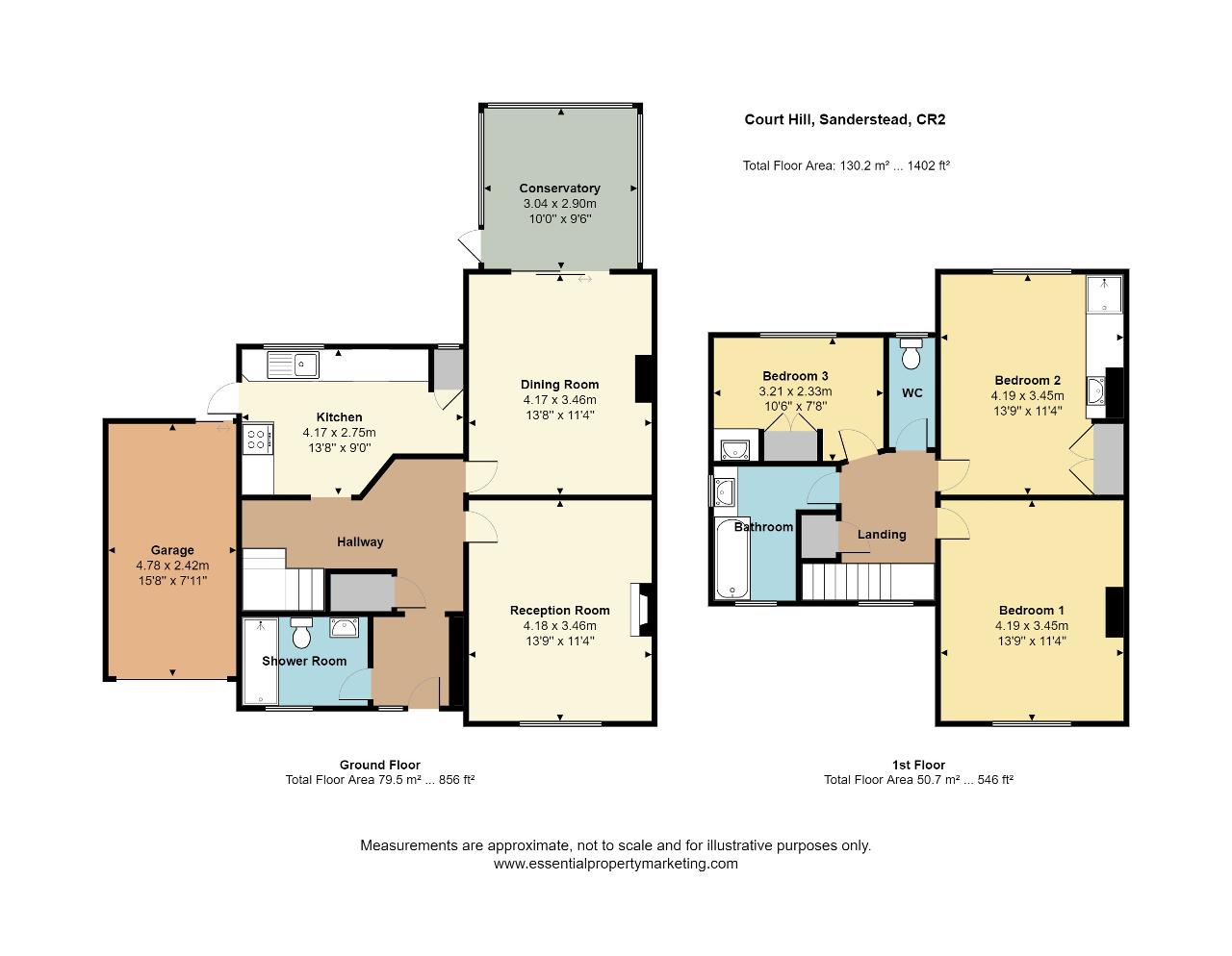 Floorplan of Court Hill, Sanderstead, South Croydon, CR2 9ND
