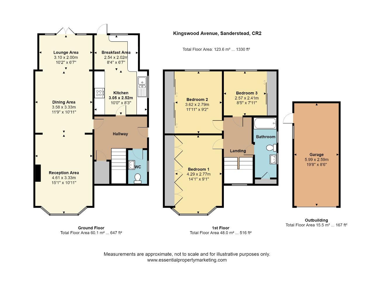 Floorplan of Kingswood Avenue, Sanderstead, South Croydon, CR2 9DQ