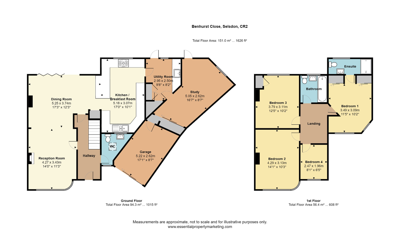 Floorplan of Benhurst Close, Selsdon, CR2 8NX