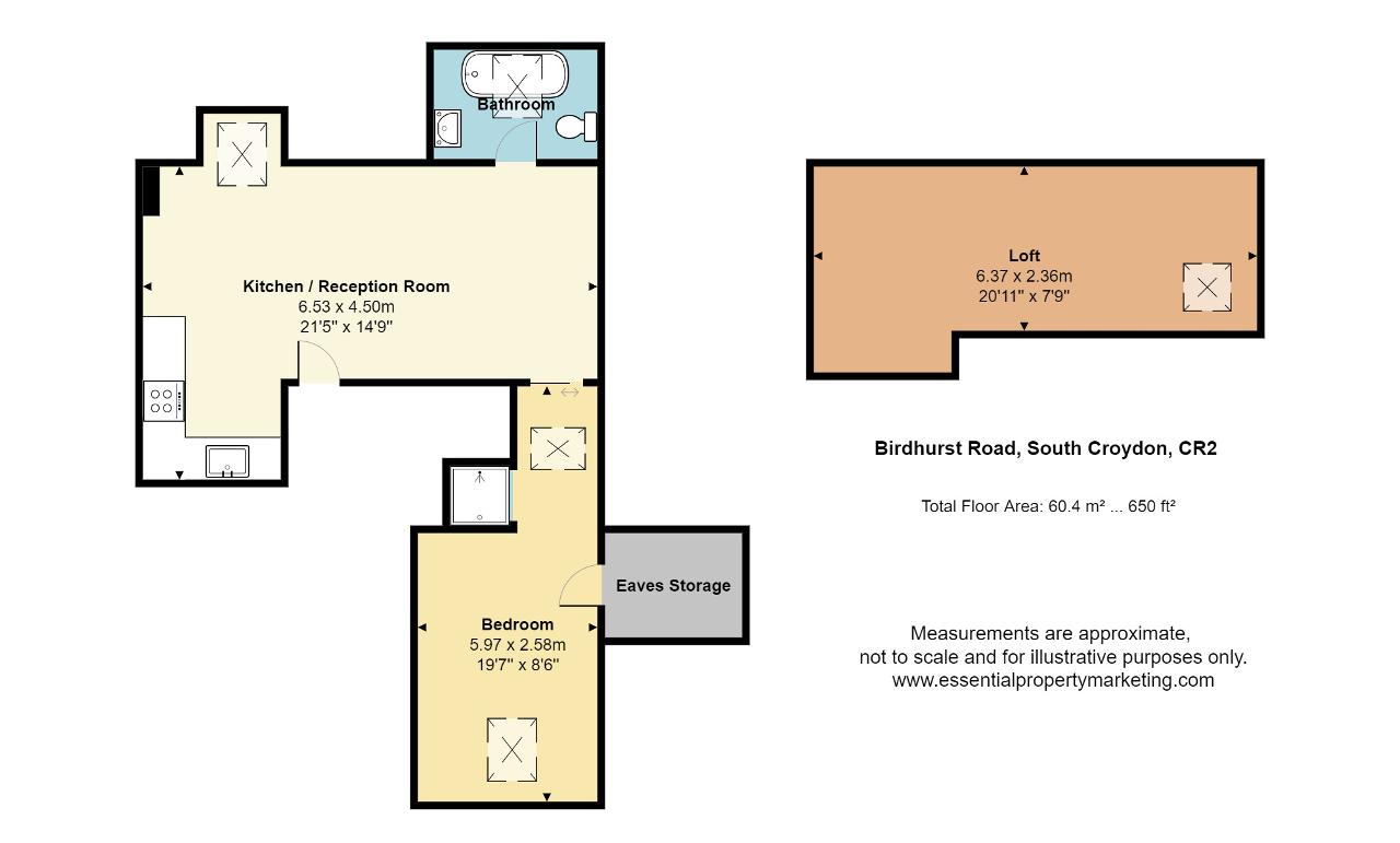 Floorplan of Birdhurst Road, South Croydon, CR2 7EA